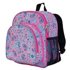Watercolor Ponies Pink Pack 'n Snack Backpack