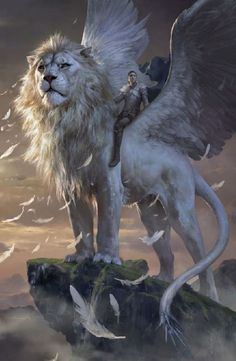 Lion Winged by Xiaodi Jin
