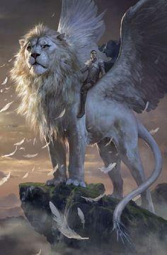 Lion Winged by Xiaodi Jin
