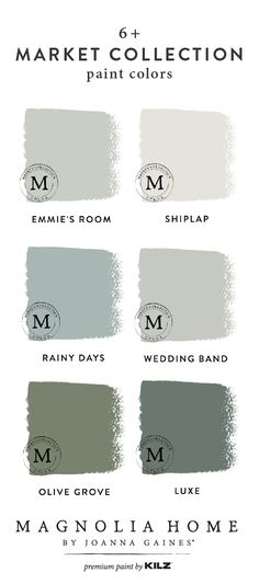 Do you need a little color palette inspiration for your upcoming DIY home makeover project? Explore these paint colors from the Magnolia Home by Joanna Gaines™ Paint collection. You can't go wrong with timeless shades like Emmie's Room, Shiplap, and Olive Grove.