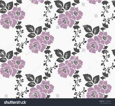 Beautiful motif flowers on the white background. Indian Embroidery, Hand Embroidery Patterns, Textile Patterns, Embroidery Designs, Print Patterns, Repetition Art, Molduras Vintage, Chintz Fabric, Batik Pattern