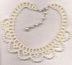White Pearl Necklace for Wedding by wanting