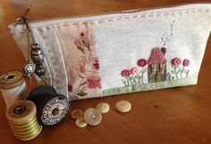 Cottage Garden pouch e-pattern as seen in Kindred Stitches Magazine now  available via Stitching 5f8df763112