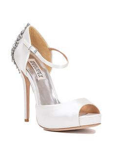 e912624c368942 Kinda is a satin platform d orsay heel with a · Wedding Shoes ...