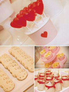 adorable red & white hello kitty birthday party