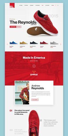 Landing Page UI design concept for eShoes shop website on Behance