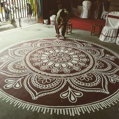 Indian Rangoli Designs, Rangoli Border Designs, Rangoli Designs Images, Beautiful Rangoli Designs, Free Hand Rangoli Design, Small Rangoli Design, Mandala Design, Mandala Art, Pookalam Design