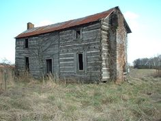 Two story Log House built by Levi Cummings, probably before 1810 in Limestone County, Alabama
