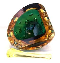 #Murano~#Galliano #Ferro?~#Green~#Amber~Dimpled~#Geode~#Uranium~#Vaseline~ Pestle~#Rare~#AWESOME!!!   It's almost 2018 guys & gals! Time to 'out with the old' & 'in with the #new' - #REJUVENATE your #home with stunning #Glass #Art! #Seraphimslair's #GlassShack has everything for all tastes & settings! #InteriorDesign #Trending #Colors #NewYearsResolution #USA #UK #Stylish #Style #Fashion #Oceanside #Beach #Ocean #Family #Friends #Gifts #Caribbean #Holidays #Travel #LiveLoveLife!!! xxx