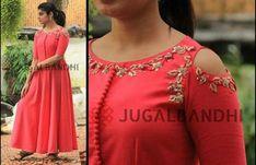 Kids Blouse Designs, Bridal Blouse Designs, Saree Blouse Designs, Dress Designs, Dress Indian Style, Indian Dresses, Indian Outfits, Indian Wear, Kurti Embroidery Design