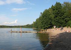 The beach of Lippajärvi (Viherlaakso, Espoo, Finland).