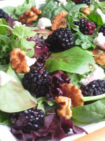 Food Fashion and Flow: Blackberry Goat Cheese Salad