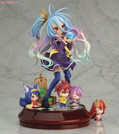 New NO GAME NO LIFE Shiro 1//7 Scale PVC Figure Model Toy Gift Collection