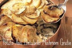Potato & Portabello Mushroom Gratin