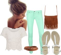 Minus the purse fringe. Chic Outfits, Trendy Outfits, Summer Outfits, Fashion Outfits, Fashion Trends, Mint Converse, Mint Jeans, Retail Therapy, Virtual Closet