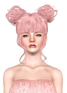 NewSea`s Rainbow Flower hairstyle retextured by Jas for Sims 3 - Sims Hairs - http://simshairs.com/newseas-rainbow-flower-hairstyle-retextured-by-jas/