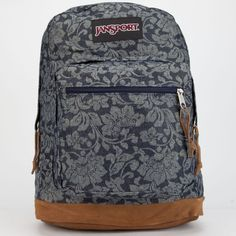 JanSport Right Pack Backpack featuring polyvore, fashion, bags, backpacks, backpack, blue combo, jansport bags, blue backpack, blue bag, laptop backpacks and laptop bag