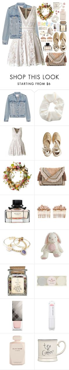 """""""2557. Easter"""" by chocolatepumma ❤ liked on Polyvore featuring Frame, Topshop, Castañer, National Tree Company, Shashi, Gucci, Gripoix, Alex and Ani, Kate Spade and Burberry"""
