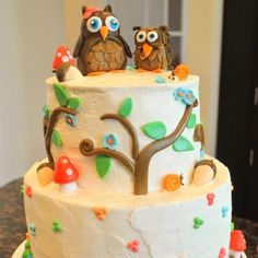 woodland or forest friends cake - Google Search