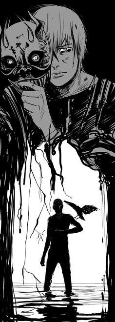 Adam and Ronan (The Raven Boys written by maggie-stiefvater)  Art by Cassandra JP