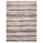 Rag Rug Ivory/Charcoal (Ivory/Grey) 4 ft. x 6 ft. Area Rug