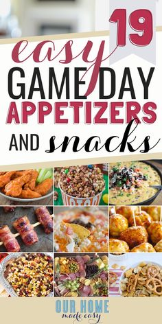 Make game day even better with these easy game day snacks & football finger foods! You can them make ahead of time, warm them up if needed, and be party ready quickly! Make game day even better with these easy game day snacks & football finger foods! Make Ahead Appetizers, Game Day Appetizers, Game Day Snacks, Game Day Food, Appetizer Recipes, Dinner Recipes, Simple Appetizers, Crab Appetizer, Snacks Recipes