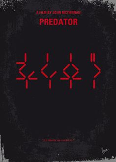Predator Poster featuring the digital art No066 My Predator Minimal Movie Poster by Chungkong Art