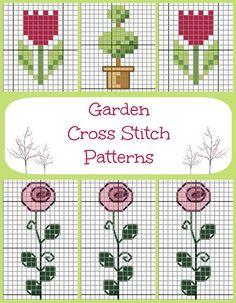 Easy Garden Cross Stitch Pattern via My Favourite Things