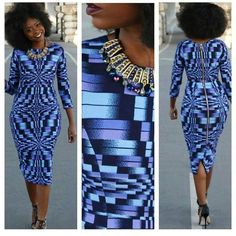 African Summer Dress - Ankara Midi Dress - African Midi Dress - The African Clothing African Inspired Fashion, African Dresses For Women, African Print Dresses, African Print Fashion, Africa Fashion, African Attire, African Wear, African Women, African Prints