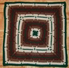 In-the-Round Square Navajo Lap Blanket | AllFreeCrochet.com