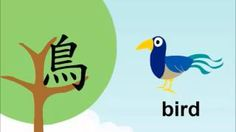 Chinese Character: niǎo 鳥 -  The Development of Chinese Characters - Bird, via YouTube.