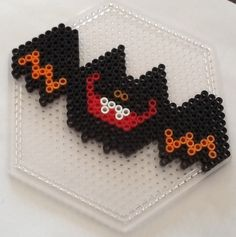 Halloween bat perler fuse beads by FarOut Fusion
