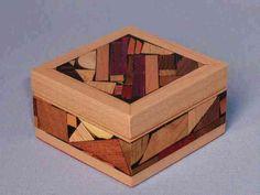 Diagonal Mosaic Jewelry Box