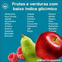 Frutas e verduras com baixo índice glicêmico ajudam a emagrecer — ANDREIA TORRES Frutas Low Carb, Diabetes, Canal E, Healthy Tips, Sugar Free, Diet Recipes, Ale, Detox, Veggies