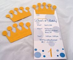 Little Prince Birthday Invitations by SDezigns on Etsy, $3.00