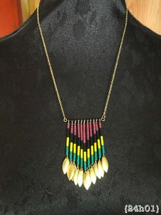 Cute chevron/aztec inspired necklace, easy to diy