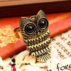 Vintage Owl Cocktail Ring,shop at http://www.costwe.com/fashion-cheap-rings-c-47_43.html