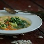Kale and White Bean Soup - Nourished Kitchen    Obsessed with this blog right now!