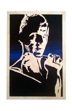 Roy Batty Blade Runner scroll saw portrait  by CarteriArtAndDeco