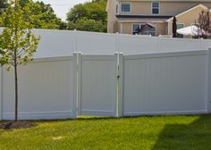 Most popular white vinyl fence is the Tongue and Groove privacy, proves it works for every backyard!
