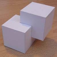 Paper model cubic shape 5