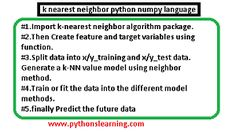 k nearest neighbor python numpy language After Running, Job 1, Lets Do It, Variables, Machine Learning, Python, Meant To Be, Language