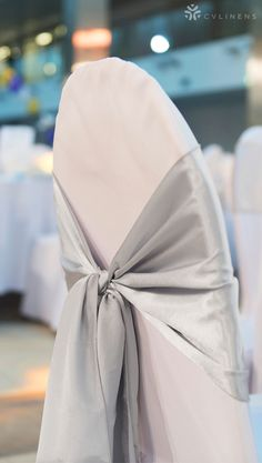 6611e4d6386b Simple chair sash. Maybe in black  Simple Wedding Reception