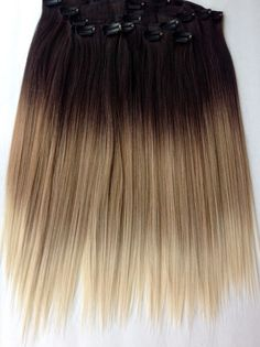 """18"""" Clip-In Hair Extensions * 8 pcs Extensions * Human Hair Blend * 200 grams of hair * Many Colors Avaliable // Straight Extensions"""