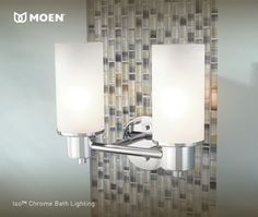Modern lighting for the bathroom.