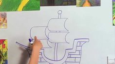 Great Artist Mom's guided drawing of a Pirate Ship Visit us online at: http://www.greatartistmom.com or http://www.greatartistprogram.com