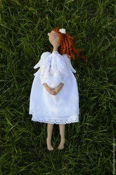 Ангел хранитель. - подарок, подарок на крестины, ангел, ангел-хранитель, хлопок, кружево, handmade fabric doll