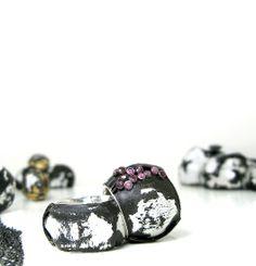 susie ganch rings 2012, enameled steel,diamonds,rubies,silver