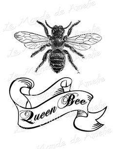 Queen bee paris france fleur de lys crown vintage by JLeeloo2