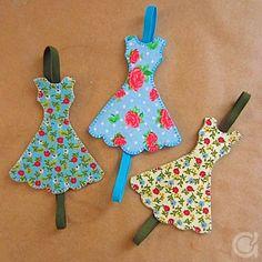 PAP - Marcadores de páginas: Vestidinhos
